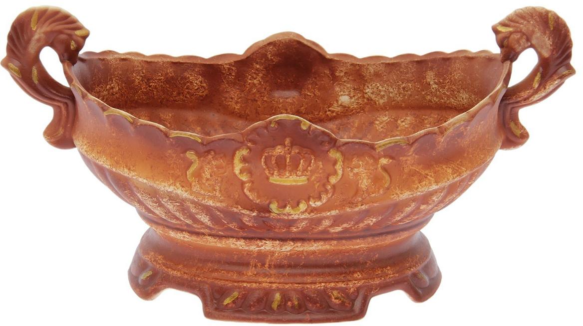 Конфетница Керамика ручной работы Ладья, цвет: коричневый. 15532491553249Ваза для конфет украсит любую квартиру, дачу или офис. Преподнести её в качестве подарка друзьям или близким – отличная идея. Необычный дизайн и расцветка может вписаться в любой интерьер и стать его уникальным акцентом. Вещь предназначена для подачи конфет, сухофруктов или восточных сладостей.