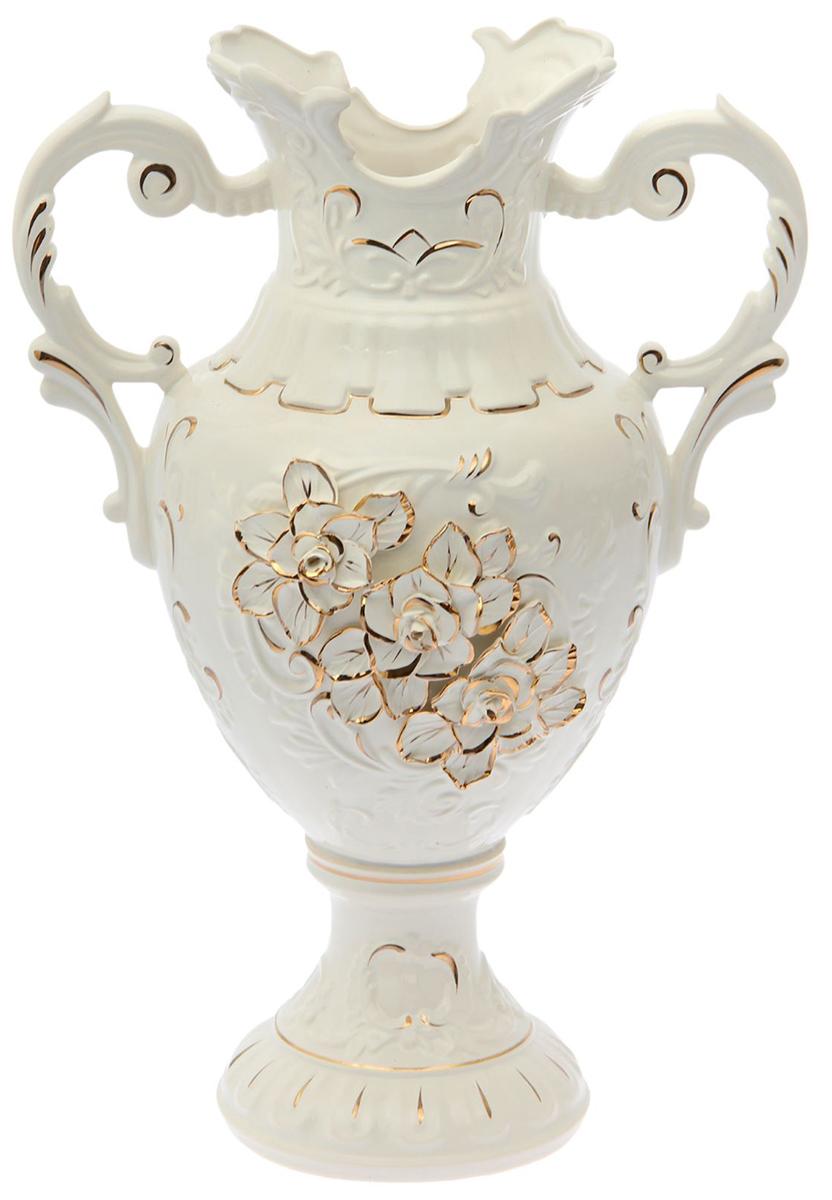 Ваза напольная Керамика ручной работы Астория, цвет: белый. 15564241556424Это ваза - отличный способ подчеркнуть общий стиль интерьера. Существует множество причин иметь такой предмет дома. Вот лишь некоторые из них: Формирование праздничного настроения. Можно украсить вазу к Новому году гирляндой, тюльпанами на 8 марта, розами на день Святого Валентина, вербой на Пасху. За счёт того, что это заметный элемент интерьера, вы легко и быстро создадите во всём доме праздничное настроение. Заполнение углов, подиумов, ниш. Таким образом можно сделать обстановку более уютной и многогранной. Создание групповой композиции. Если позволяет площадь пространства, разместите несколько ваз так, чтобы они сочетались по стилю или цветовому решению. Это придаст обстановке более завершённый вид. Подходящая форма и стиль этого предмета подчеркнут достоинства дизайна квартиры. Ваза может стать отличным подарком по любому поводу, ведь такой элемент интерьера практичен и способен каждый день создавать хорошее настроение!