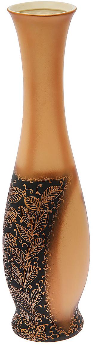 Ваза напольная Керамика ручной работы Грация, цвет: оранжевый, хохлома ваза 330 210мм хохлома 856479