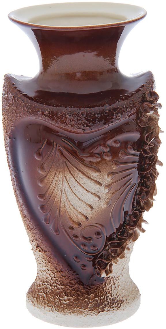 Ваза Керамика ручной работы Амур, цвет: темно-коричневый1623051Ваза Керамика ручной работы - сувенир в полном смысле этого слова. И главная его задача - хранить воспоминание о месте, где вы побывали, или о том человеке, который подарил данный предмет. Преподнесите эту вещь своему другу, и она станет достойным украшением его дома. Каждому хозяину периодически приходит мысль обновить свою квартиру, сделать ремонт, перестановку или кардинально поменять внешний вид каждой комнаты. Ваза - привлекательная деталь, которая поможет воплотить вашу интерьерную идею, создать неповторимую атмосферу в вашем доме. Окружите себя приятными мелочами, пусть они радуют глаз и дарят гармонию.