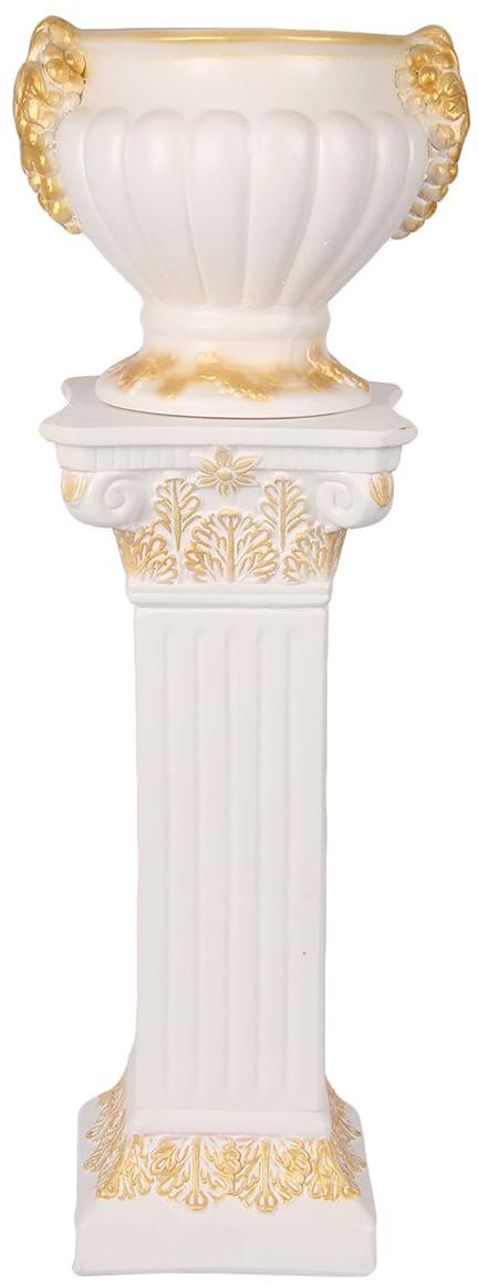 Ваза Premium Gips Колонна, цвет: белый, 92 см1623349Каждому хозяину периодически приходит мысль обновить свою квартиру, сделать ремонт, перестановку или кардинально поменять внешний вид каждой комнаты. Ваза Колонна белая - привлекательная деталь, которая поможет воплотить вашу интерьерную идею, создать неповторимую атмосферу в вашем доме. Окружите себя приятными мелочами, пусть они радуют глаз и дарят гармонию.Ваза Колонна белая - сувенир в полном смысле этого слова. И главная его задача - хранить воспоминание о месте, где вы побывали, или о том человеке, который подарил данный предмет. Преподнесите эту вещь своему другу, и она станет достойным украшением его дома.