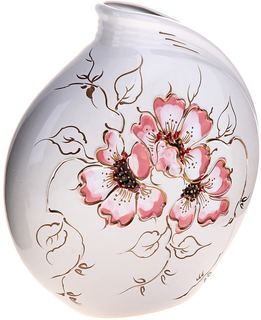 Ваза Керамика ручной работы Бали, цвет: белый165894Не знаете чем разнообразить надоевший интерьер? Шикарная роспись этих настольных ваз впишется в любое помещение. Подарите такую вазу близкому человеку на любой праздник, и он останется доволен.