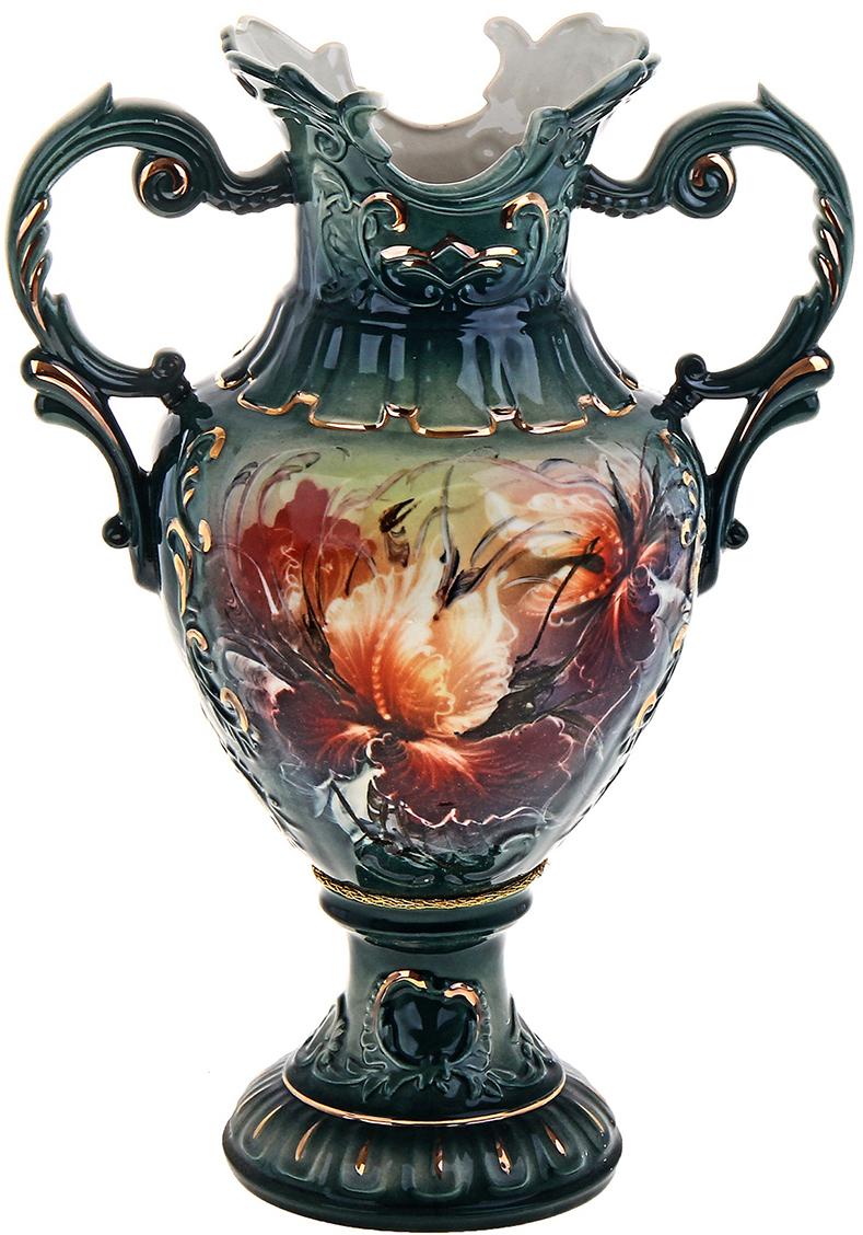 Ваза напольная Керамика ручной работы Астория, цвет: зеленый. 165926165926Это ваза - отличный способ подчеркнуть общий стиль интерьера.Существует множество причин иметь такой предмет дома. Вот лишь некоторые из них:Формирование праздничного настроения. Можно украсить вазу к Новому году гирляндой, тюльпанами на 8 марта, розами на день Святого Валентина, вербой на Пасху. За счёт того, что это заметный элемент интерьера, вы легко и быстро создадите во всём доме праздничное настроение.Заполнение углов, подиумов, ниш. Таким образом можно сделать обстановку более уютной и многогранной.Создание групповой композиции. Если позволяет площадь пространства, разместите несколько ваз так, чтобы они сочетались по стилю или цветовому решению. Это придаст обстановке более завершённый вид.Подходящая форма и стиль этого предмета подчеркнут достоинства дизайна квартиры. Ваза может стать отличным подарком по любому поводу, ведь такой элемент интерьера практичен и способен каждый день создавать хорошее настроение!
