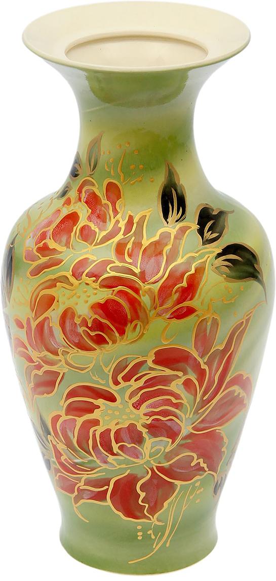 Ваза Керамика ручной работы Титаник, цвет: зеленый165958Ваза из керамики не только станет прекрасным элементом декора помещения, но и сохранит свежесть вашего букета на долгое время. Подобно термосу, керамические сосуды сохраняют воду прохладной даже при высокой внешней температуре. Доказано, в керамической вазе цветы стоят почти в 2 раза дольше.