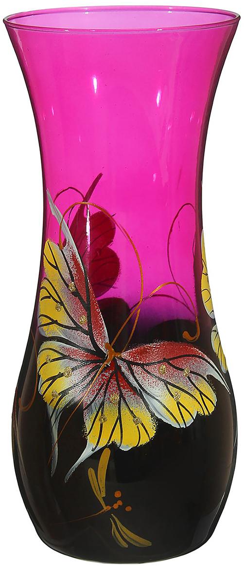 Ваза Розовое вдохновение, цвет: розовый, 25,5 см1696755Ваза - не просто сосуд для букета, а украшение убранства. Поставьте в неё цветы или декоративные веточки, и эффектный интерьерный акцент готов! Стеклянный аксессуар добавит помещению лёгкости. Ваза Розовое вдохновение преобразит пространство и как самостоятельный элемент декора. Наполните интерьер уютом! Каждая ваза выдувается мастером. Второй точно такой же не встретить. А случайный пузырёк воздуха или застывшая стеклянная капелька на горлышке лишь подчёркивают её уникальность.