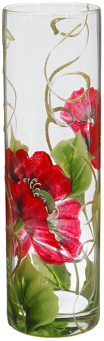 Ваза Розовые маки, 26,5 см1696768Ваза - не просто сосуд для букета, а украшение убранства. Поставьте в неё цветы или декоративные веточки, и эффектный интерьерный акцент готов! Стеклянный аксессуар добавит помещению лёгкости.Ваза Розовые маки преобразит пространство и как самостоятельный элемент декора. Наполните интерьер уютом!Каждая ваза выдувается мастером. Второй точно такой же не встретить. А случайный пузырёк воздуха или застывшая стеклянная капелька на горлышке лишь подчёркивают её уникальность.