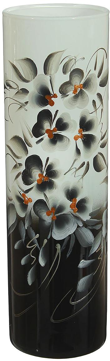 Ваза Инь-Ян, цвет: черный, 26,5 см1696774Ваза - не просто сосуд для букета, а украшение убранства. Поставьте в неё цветы или декоративные веточки, и эффектный интерьерный акцент готов! Стеклянный аксессуар добавит помещению лёгкости. Ваза Инь-Ян преобразит пространство и как самостоятельный элемент декора. Наполните интерьер уютом! Каждая ваза выдувается мастером. Второй точно такой же не встретить. А случайный пузырёк воздуха или застывшая стеклянная капелька на горлышке лишь подчёркивают её уникальность.