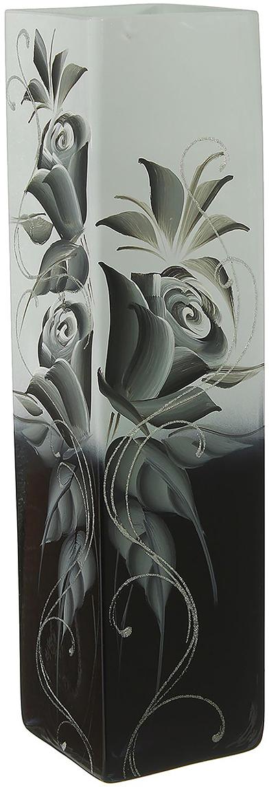 Ваза Домани, цвет: черный, 40 см1696833Ваза - не просто сосуд для букета, а украшение убранства. Поставьте в неё цветы или декоративные веточки, и эффектный интерьерный акцент готов! Стеклянный аксессуар добавит помещению лёгкости. Ваза Домани преобразит пространство и как самостоятельный элемент декора. Наполните интерьер уютом! Каждая ваза выдувается мастером. Второй точно такой же не встретить. А случайный пузырёк воздуха или застывшая стеклянная капелька на горлышке лишь подчёркивают её уникальность.