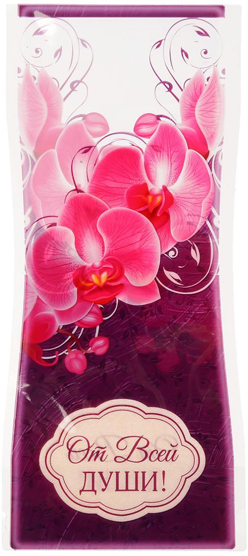 Ваза для цветов От всей души! Орхидея, складная, цвет: бордовый, 27 см1716549Ваза изготовлена из тонкого пластика. В сложенном виде декор не толще листа бумаги. Налейте в него воду, и он с лёгкостью примет нужную форму. Преимущества складной вазы Устойчивость: благодаря своей форме и тяжести воды, изделие подходит для любого букета до 11 цветков. Компактность: в сложенном состоянии займёт минимум места, не больше полиэтиленового пакета. Безопасность: если ребёнок или домашнее животное опрокинет ёмкость, она не разобьётся. Многократность использования: высушите, сложите и уберите предмет, если он не нужен. Такая ваза будет отличным подарком на 8 Марта, день рождения, а также станет прекрасным дополнением к букету.