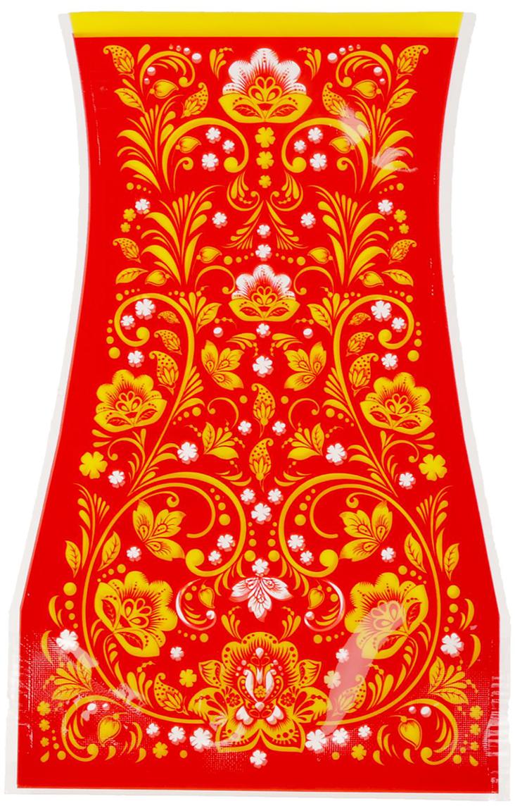 Ваза для цветов Хохлома, складная, цвет: красный, 20,4 см ваза прямая цвет красный 51 см 2176628