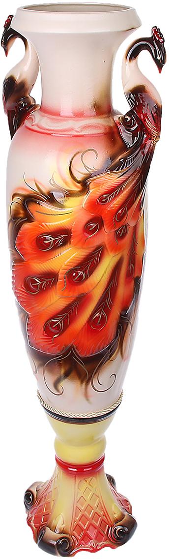 Ваза напольная Керамика ручной работы Павлин, цвет: красный172499Это ваза - отличный способ подчеркнуть общий стиль интерьера. Существует множество причин иметь такой предмет дома. Вот лишь некоторые из них: Формирование праздничного настроения. Можно украсить вазу к Новому году гирляндой, тюльпанами на 8 марта, розами на день Святого Валентина, вербой на Пасху. За счёт того, что это заметный элемент интерьера, вы легко и быстро создадите во всём доме праздничное настроение. Заполнение углов, подиумов, ниш. Таким образом можно сделать обстановку более уютной и многогранной. Создание групповой композиции. Если позволяет площадь пространства, разместите несколько ваз так, чтобы они сочетались по стилю или цветовому решению. Это придаст обстановке более завершённый вид. Подходящая форма и стиль этого предмета подчеркнут достоинства дизайна квартиры. Ваза может стать отличным подарком по любому поводу, ведь такой элемент интерьера практичен и способен каждый день создавать хорошее настроение!