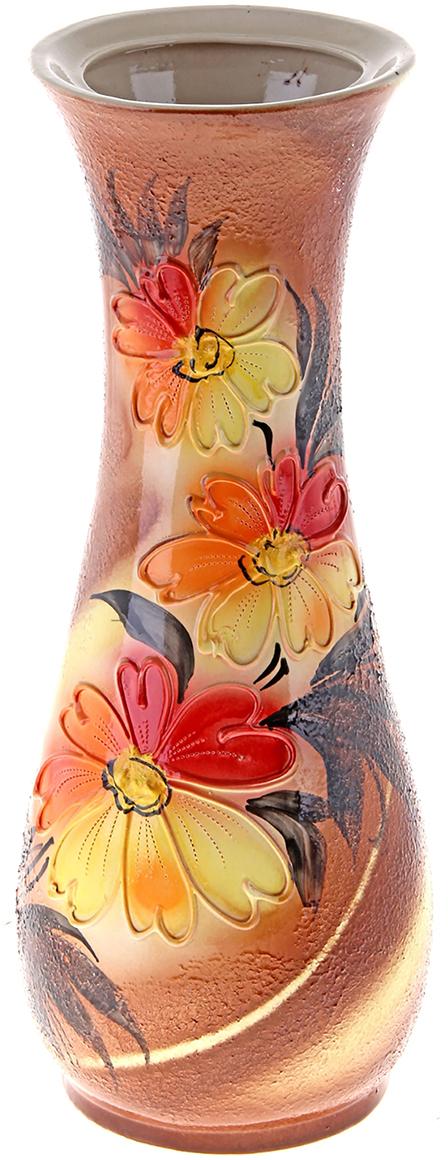 Ваза напольная Керамика ручной работы Осень, цвет: бежевый. 172502172502Это ваза - отличный способ подчеркнуть общий стиль интерьера. Существует множество причин иметь такой предмет дома. Вот лишь некоторые из них: Формирование праздничного настроения. Можно украсить вазу к Новому году гирляндой, тюльпанами на 8 марта, розами на день Святого Валентина, вербой на Пасху. За счёт того, что это заметный элемент интерьера, вы легко и быстро создадите во всём доме праздничное настроение. Заполнение углов, подиумов, ниш. Таким образом можно сделать обстановку более уютной и многогранной. Создание групповой композиции. Если позволяет площадь пространства, разместите несколько ваз так, чтобы они сочетались по стилю или цветовому решению. Это придаст обстановке более завершённый вид. Подходящая форма и стиль этого предмета подчеркнут достоинства дизайна квартиры. Ваза может стать отличным подарком по любому поводу, ведь такой элемент интерьера практичен и способен каждый день создавать хорошее настроение!