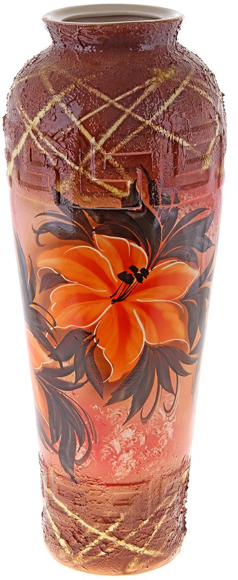 Ваза напольная Керамика ручной работы Арго, цвет: коричневый. 172521172521Ваза - сувенир в полном смысле этого слова. И главная его задача - хранить воспоминание о месте, где вы побывали, или о том человеке, который подарил данный предмет. Преподнесите эту вещь своему другу, и она станет достойным украшением его дома. Каждому хозяину периодически приходит мысль обновить свою квартиру, сделать ремонт, перестановку или кардинально поменять внешний вид каждой комнаты. Ваза - привлекательная деталь, которая поможет воплотить вашу интерьерную идею, создать неповторимую атмосферу в вашем доме. Окружите себя приятными мелочами, пусть они радуют глаз и дарят гармонию.