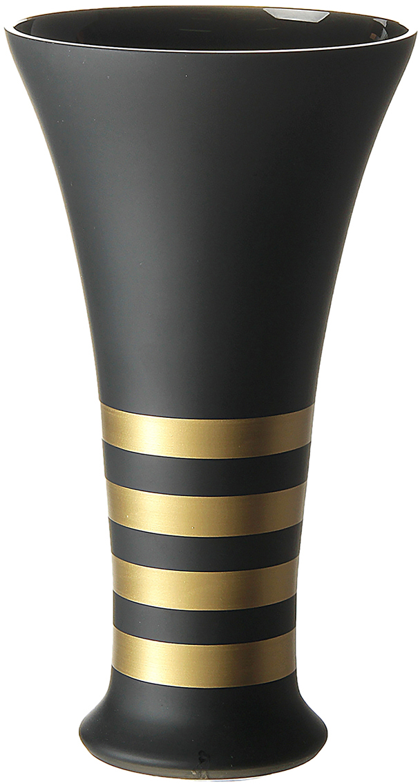 Ваза NB Art, s.r.o. Black satin Gold, цвет: черный, 30 см181013Каждому хозяину периодически приходит мысль обновить свою квартиру, сделать ремонт, перестановку или кардинально поменять внешний вид каждой комнаты. Ваза Black satin Gold - привлекательная деталь, которая поможет воплотить вашу интерьерную идею, создать неповторимую атмосферу в вашем доме. Окружите себя приятными мелочами, пусть они радуют глаз и дарят гармонию. Ваза Black satin Gold - сувенир в полном смысле этого слова. И главная его задача - хранить воспоминание о месте, где вы побывали, или о том человеке, который подарил данный предмет. Преподнесите эту вещь своему другу, и она станет достойным украшением его дома.