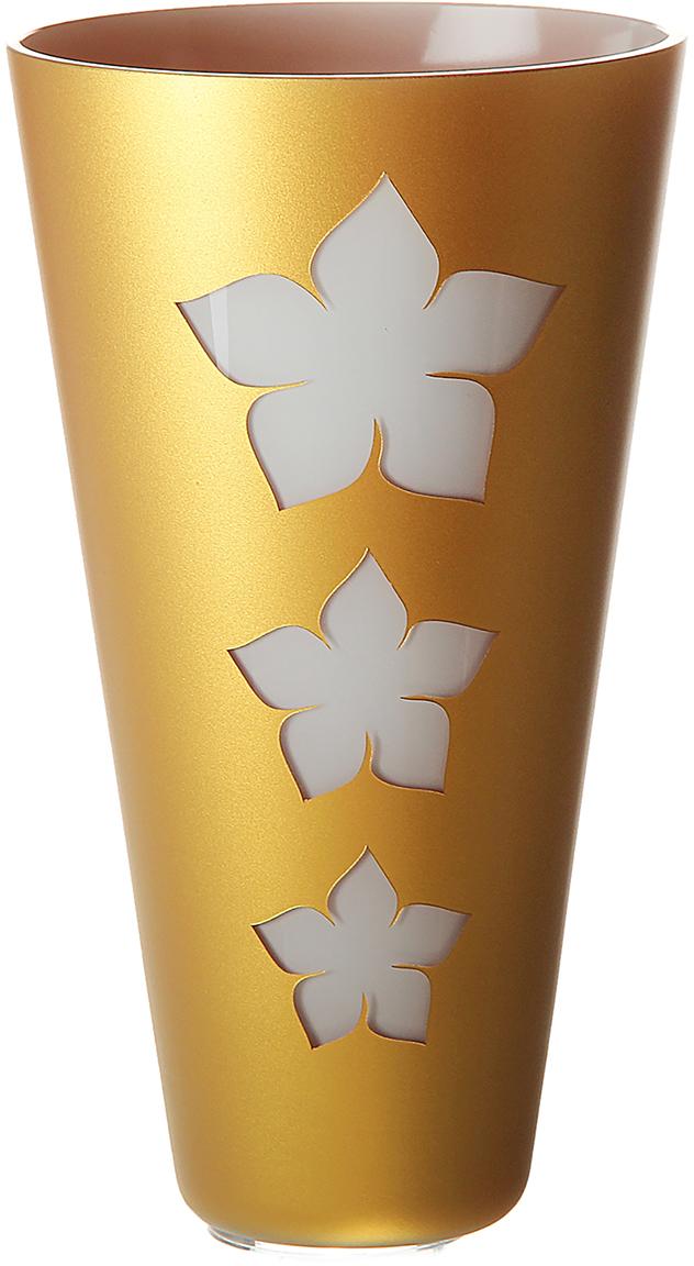 Ваза NB Art, s.r.o. Innovation Flowers, цвет: золотой, 27 см181027Ваза Innovation Flowers - сувенир в полном смысле этого слова. И главная его задача - хранить воспоминание о месте, где вы побывали, или о том человеке, который подарил данный предмет. Преподнесите эту вещь своему другу, и она станет достойным украшением его дома. Каждому хозяину периодически приходит мысль обновить свою квартиру, сделать ремонт, перестановку или кардинально поменять внешний вид каждой комнаты. Ваза Innovation Flowers - привлекательная деталь, которая поможет воплотить вашу интерьерную идею, создать неповторимую атмосферу в вашем доме. Окружите себя приятными мелочами, пусть они радуют глаз и дарят гармонию.