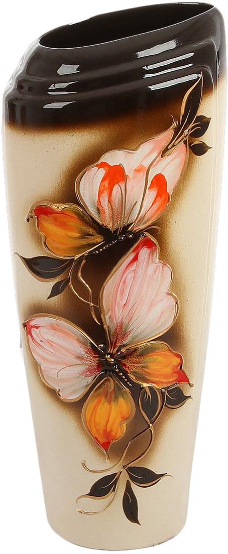 Ваза Керамика ручной работы Эмма, цвет: коричневый. 189095189095Ваза из керамики не только станет прекрасным элементом декора помещения, но и сохранит свежесть вашего букета на долгое время. Подобно термосу, керамические сосуды сохраняют воду прохладной даже при высокой внешней температуре. Доказано, в керамической вазе цветы стоят почти в 2 раза дольше.