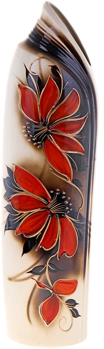 Ваза напольная Керамика ручной работы Инфинити, цвет: бежевый189096Напольная керамическая ваза – запоминающийся и броский акцент в вашем доме. Она добавит элегантности в интерьер и сделает его неповторимым. Кроме того, напольная ваза - шикарный подарок для настоящего эстета. Керамика – прекрасный материал для изготовления ваз. Ваза напольная Инфинити виноград, бежевая прочная и долговечная. Её очень сложно разбить или расколоть. Перед вами отличное сочетание «цена-качество».