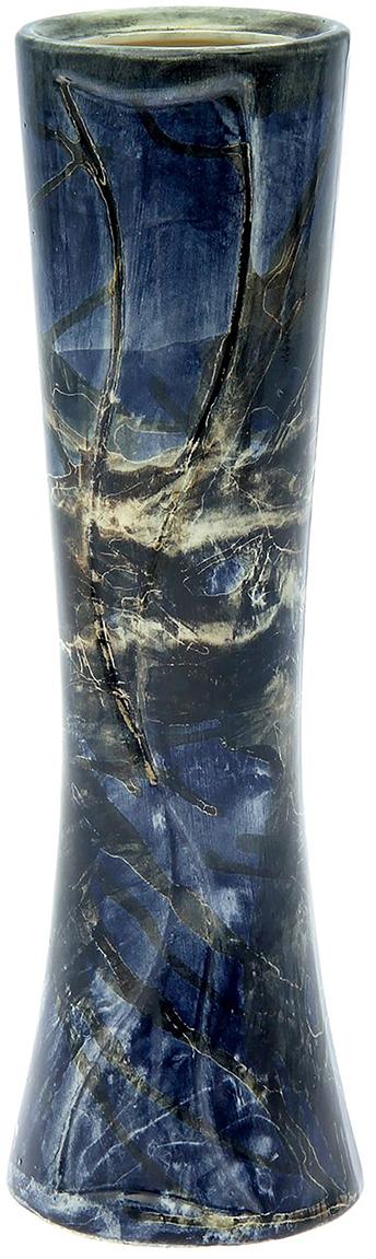 Ваза Керамика ручной работы Марика, цвет: синий1917219Ваза - сувенир в полном смысле этого слова. И главная его задача - хранить воспоминание о месте, где вы побывали, или о том человеке, который подарил данный предмет. Преподнесите эту вещь своему другу, и она станет достойным украшением его дома. Каждому хозяину периодически приходит мысль обновить свою квартиру, сделать ремонт, перестановку или кардинально поменять внешний вид каждой комнаты. Ваза - привлекательная деталь, которая поможет воплотить вашу интерьерную идею, создать неповторимую атмосферу в вашем доме. Окружите себя приятными мелочами, пусть они радуют глаз и дарят гармонию.