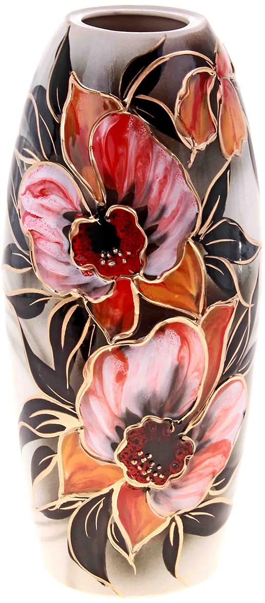 Ваза Керамика ручной работы Евро, цвет: розовый193343Не знаете чем разнообразить надоевший интерьер? Шикарная роспись этих настольных ваз впишется в любое помещение. Подарите такую вазу близкому человеку на любой праздник, и он останется доволен.