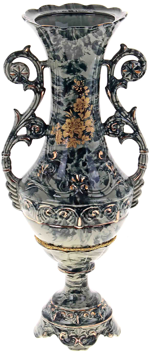 Ваза напольная Керамика ручной работы Феона, цвет: зеленый193383Большие красивые напольные вазы придают помещению элегантность и создают неповторимый уют. Ваза Феона станет стильным акцентомлюбого интерьера. Вазы из керамики очень прочны и долговечны. Покупая эту вазу домой или в подарок, можно быть уверенным, что она послужит ещё не одномупоколению.