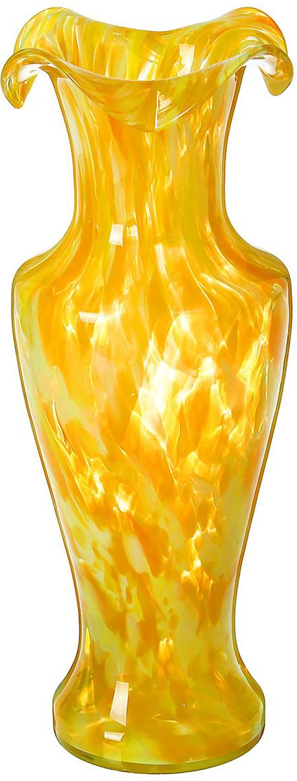Ваза Античность, цвет: желтый, 30 см. 19847411984741Ваза - сувенир в полном смысле этого слова. И главная его задача - хранить воспоминание о месте, где вы побывали, или о том человеке, который подарил данный предмет. Преподнесите эту вещь своему другу, и она станет достойным украшением его дома. Каждому хозяину периодически приходит мысль обновить свою квартиру, сделать ремонт, перестановку или кардинально поменять внешний вид каждой комнаты. Ваза - привлекательная деталь, которая поможет воплотить вашу интерьерную идею, создать неповторимую атмосферу в вашем доме. Окружите себя приятными мелочами, пусть они радуют глаз и дарят гармонию.