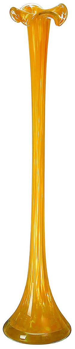 Ваза Сияние, цвет: желтый, 51 см. 1984744 ваза прямая цвет красный 51 см 2176628
