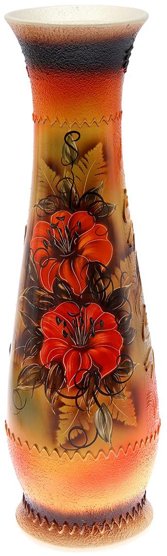 Ваза напольная Керамика ручной работы Глория, цвет: красный198633Это ваза - отличный способ подчеркнуть общий стиль интерьера. Существует множество причин иметь такой предмет дома. Вот лишь некоторые из них: Формирование праздничного настроения. Можно украсить вазу к Новому году гирляндой, тюльпанами на 8 марта, розами на день Святого Валентина, вербой на Пасху. За счёт того, что это заметный элемент интерьера, вы легко и быстро создадите во всём доме праздничное настроение. Заполнение углов, подиумов, ниш. Таким образом можно сделать обстановку более уютной и многогранной. Создание групповой композиции. Если позволяет площадь пространства, разместите несколько ваз так, чтобы они сочетались по стилю или цветовому решению. Это придаст обстановке более завершённый вид. Подходящая форма и стиль этого предмета подчеркнут достоинства дизайна квартиры. Ваза может стать отличным подарком по любому поводу, ведь такой элемент интерьера практичен и способен каждый день создавать хорошее настроение!