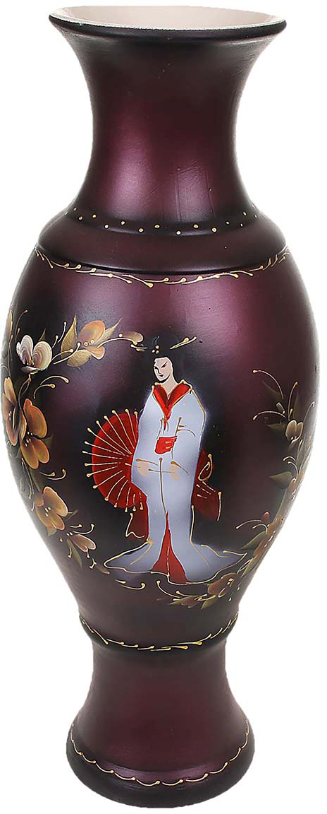 Ваза напольная Керамика ручной работы Юлия, цвет: бордовый198730Это ваза - отличный способ подчеркнуть общий стиль интерьера. Существует множество причин иметь такой предмет дома. Вот лишь некоторые из них: Формирование праздничного настроения. Можно украсить вазу к Новому году гирляндой, тюльпанами на 8 марта, розами на день Святого Валентина, вербой на Пасху. За счёт того, что это заметный элемент интерьера, вы легко и быстро создадите во всём доме праздничное настроение. Заполнение углов, подиумов, ниш. Таким образом можно сделать обстановку более уютной и многогранной. Создание групповой композиции. Если позволяет площадь пространства, разместите несколько ваз так, чтобы они сочетались по стилю или цветовому решению. Это придаст обстановке более завершённый вид. Подходящая форма и стиль этого предмета подчеркнут достоинства дизайна квартиры. Ваза может стать отличным подарком по любому поводу, ведь такой элемент интерьера практичен и способен каждый день создавать хорошее настроение!