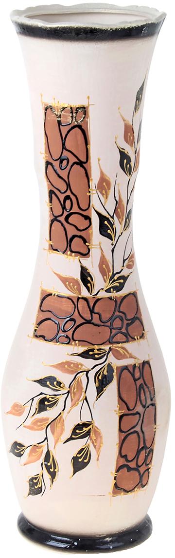 Ваза напольная Керамика ручной работы Ивона, цвет: бежевый, 60 см198956Это ваза - отличный способ подчеркнуть общий стиль интерьера. Существует множество причин иметь такой предмет дома. Вот лишь некоторые из них: Формирование праздничного настроения. Можно украсить вазу к Новому году гирляндой, тюльпанами на 8 марта, розами на день Святого Валентина, вербой на Пасху. За счёт того, что это заметный элемент интерьера, вы легко и быстро создадите во всём доме праздничное настроение. Заполнение углов, подиумов, ниш. Таким образом можно сделать обстановку более уютной и многогранной. Создание групповой композиции. Если позволяет площадь пространства, разместите несколько ваз так, чтобы они сочетались по стилю или цветовому решению. Это придаст обстановке более завершённый вид. Подходящая форма и стиль этого предмета подчеркнут достоинства дизайна квартиры. Ваза может стать отличным подарком по любому поводу, ведь такой элемент интерьера практичен и способен каждый день создавать хорошее настроение!