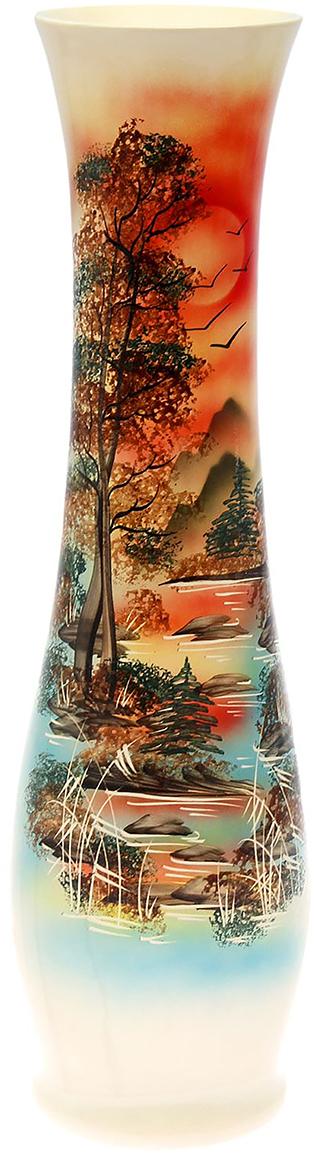 Ваза напольная Керамика ручной работы Мирра, цвет: красный198959Это ваза - отличный способ подчеркнуть общий стиль интерьера. Существует множество причин иметь такой предмет дома. Вот лишь некоторые из них: Формирование праздничного настроения. Можно украсить вазу к Новому году гирляндой, тюльпанами на 8 марта, розами на день Святого Валентина, вербой на Пасху. За счёт того, что это заметный элемент интерьера, вы легко и быстро создадите во всём доме праздничное настроение. Заполнение углов, подиумов, ниш. Таким образом можно сделать обстановку более уютной и многогранной. Создание групповой композиции. Если позволяет площадь пространства, разместите несколько ваз так, чтобы они сочетались по стилю или цветовому решению. Это придаст обстановке более завершённый вид. Подходящая форма и стиль этого предмета подчеркнут достоинства дизайна квартиры. Ваза может стать отличным подарком по любому поводу, ведь такой элемент интерьера практичен и способен каждый день создавать хорошее настроение!