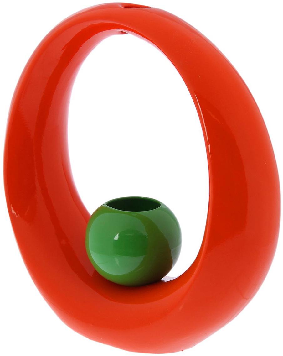 Ваза Керамика ручной работы Орбита, цвет: оранжевый2093589Ваза - сувенир в полном смысле этого слова. И главная его задача - хранить воспоминание о месте, где вы побывали, или о том человеке, который подарил данный предмет. Преподнесите эту вещь своему другу, и она станет достойным украшением его дома. Каждому хозяину периодически приходит мысль обновить свою квартиру, сделать ремонт, перестановку или кардинально поменять внешний вид каждой комнаты. Ваза - привлекательная деталь, которая поможет воплотить вашу интерьерную идею, создать неповторимую атмосферу в вашем доме. Окружите себя приятными мелочами, пусть они радуют глаз и дарят гармонию.