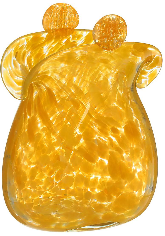 Ваза Кошелёк, цвет: желтый, высота 16 см ваза сияние цвет желтый 51 см 1984744