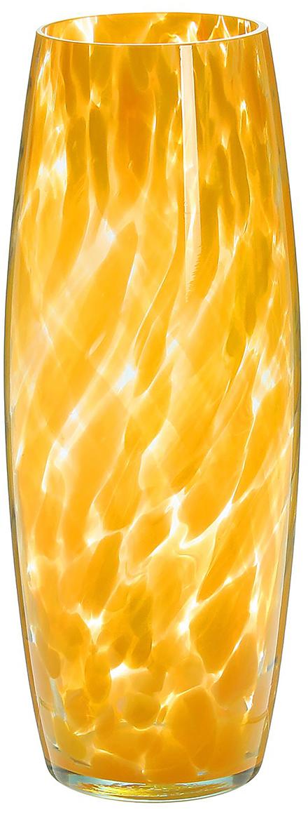 Ваза Бочка, цвет: желтый, 30 см ваза сияние цвет желтый 51 см 1984744