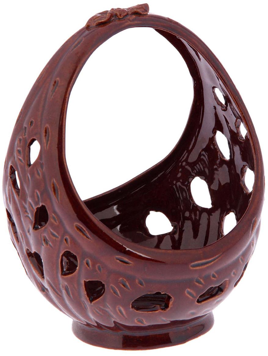 Конфетница Керамика ручной работы Ажур, цвет: коричневый. 22713942271394Ваза для конфет украсит любую квартиру, дачу или офис. Преподнести её в качестве подарка друзьям или близким – отличная идея. Необычный дизайн и расцветка может вписаться в любой интерьер и стать его уникальным акцентом. Вещь предназначена для подачи конфет, сухофруктов или восточных сладостей.