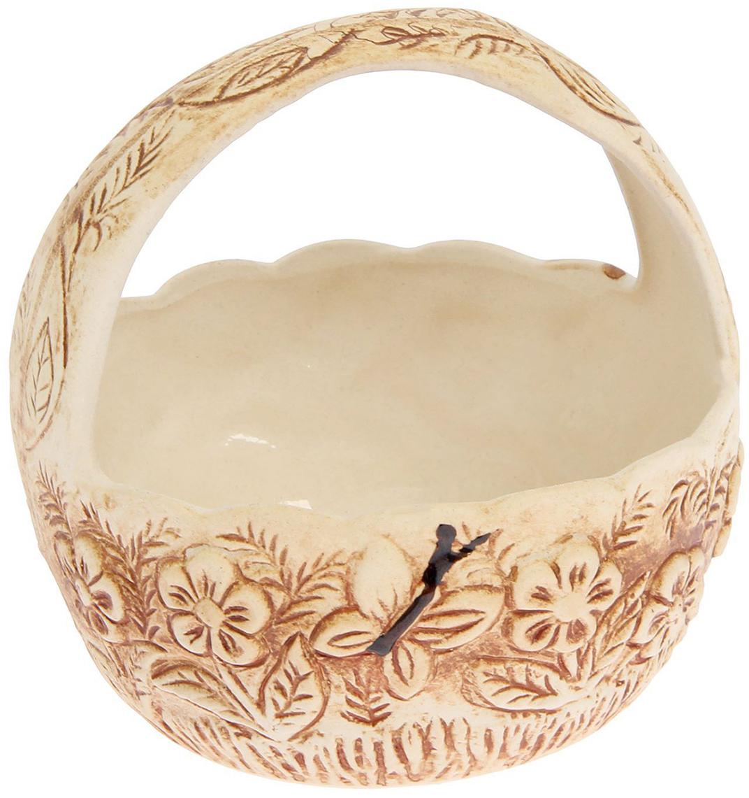 Конфетница Керамика ручной работы Лукошко, цвет: коричневый2325619Ваза для конфет украсит любую квартиру, дачу или офис. Преподнести её в качестве подарка друзьям или близким – отличная идея. Необычный дизайн и расцветка может вписаться в любой интерьер и стать его уникальным акцентом. Вещь предназначена для подачи конфет, сухофруктов или восточных сладостей.
