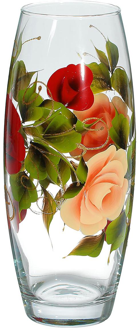 Ваза Роза, 26 см2354255Стеклянная ваза Роза - сувенир в полном смысле этого слова. И главная его задача - хранить воспоминание о месте, где вы побывали, или о том человеке, который подарил данный предмет. Преподнесите эту вещь своему другу, и она станет достойным украшением его дома. Каждому хозяину периодически приходит мысль обновить свою квартиру, сделать ремонт, перестановку или кардинально поменять внешний вид каждой комнаты. Ваза - привлекательная деталь, которая поможет воплотить вашу интерьерную идею, создать неповторимую атмосферу в вашем доме. Окружите себя приятными мелочами, пусть они радуют глаз и дарят гармонию.