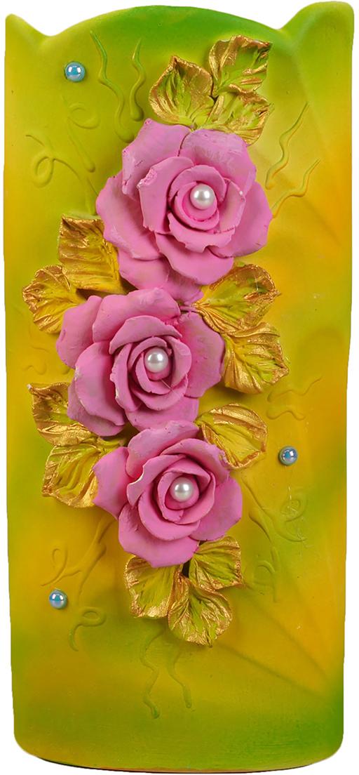 Ваза Керамика ручной работы Ромашка, цвет: желтый, средняя2367784Ваза - сувенир в полном смысле этого слова. И главная его задача - хранить воспоминание о месте, где вы побывали, или о том человеке, который подарил данный предмет. Преподнесите эту вещь своему другу, и она станет достойным украшением его дома. Каждому хозяину периодически приходит мысль обновить свою квартиру, сделать ремонт, перестановку или кардинально поменять внешний вид каждой комнаты. Ваза - привлекательная деталь, которая поможет воплотить вашу интерьерную идею, создать неповторимую атмосферу в вашем доме. Окружите себя приятными мелочами, пусть они радуют глаз и дарят гармонию.