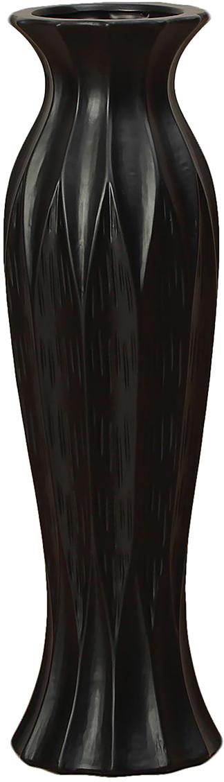 Ваза напольная День ночь, керамика, цвет: черный, 60 см. 25418082541808Каждому хозяину периодически приходит мысль обновить свою квартиру, сделать ремонт, перестановку или кардинально поменять внешний вид каждой комнаты. - привлекательная деталь, которая поможет воплотить вашу интерьерную идею, создать неповторимую атмосферу в вашем доме. Окружите себя приятными мелочами, пусть они радуют глаз и дарят гармонию.- сувенир в полном смысле этого слова. И главная его задача - хранить воспоминание о месте, где вы побывали, или о том человеке, который подарил данный предмет. Преподнесите эту вещь своему другу, и она станет достойным украшением его дома.