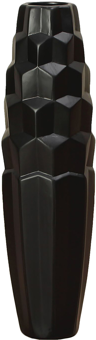Ваза напольная День ночь, керамика, цвет: черный, 60 см. 25418142541814Каждому хозяину периодически приходит мысль обновить свою квартиру, сделать ремонт, перестановку или кардинально поменять внешний вид каждой комнаты. - привлекательная деталь, которая поможет воплотить вашу интерьерную идею, создать неповторимую атмосферу в вашем доме. Окружите себя приятными мелочами, пусть они радуют глаз и дарят гармонию.- сувенир в полном смысле этого слова. И главная его задача - хранить воспоминание о месте, где вы побывали, или о том человеке, который подарил данный предмет. Преподнесите эту вещь своему другу, и она станет достойным украшением его дома.