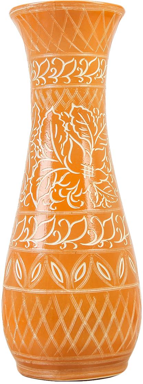 Ваза Керамика ручной работы Осень, цвет: оранжевый, резка2725273Ваза Керамика ручной работы - сувенир в полном смысле этого слова. И главная его задача - хранить воспоминание о месте, где вы побывали, или о том человеке, который подарил данный предмет. Преподнесите эту вещь своему другу, и она станет достойным украшением его дома. Каждому хозяину периодически приходит мысль обновить свою квартиру, сделать ремонт, перестановку или кардинально поменять внешний вид каждой комнаты. Ваза - привлекательная деталь, которая поможет воплотить вашу интерьерную идею, создать неповторимую атмосферу в вашем доме. Окружите себя приятными мелочами, пусть они радуют глаз и дарят гармонию.