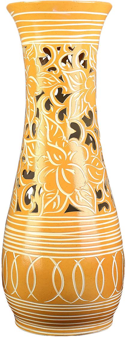 Ваза Керамика ручной работы Осень, цвет: коричневый. 27252762725276Каждому хозяину периодически приходит мысль обновить свою квартиру, сделать ремонт, перестановку или кардинально поменять внешний вид каждой комнаты. Ваза - привлекательная деталь, которая поможет воплотить вашу интерьерную идею, создать неповторимую атмосферу в вашем доме. Окружите себя приятными мелочами, пусть они радуют глаз и дарят гармонию.