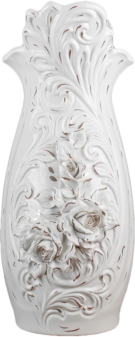 """Ваза Керамика ручной работы """"Королева"""", цвет: белый"""