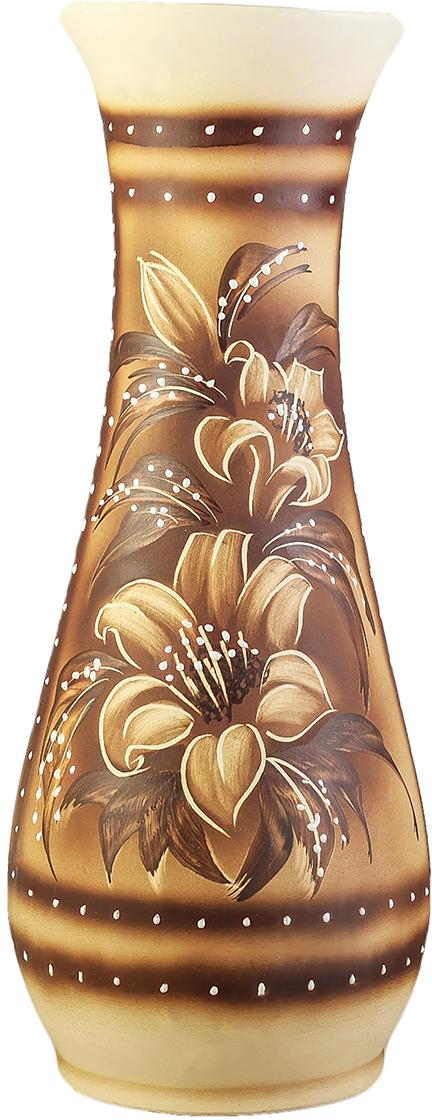 Ваза Керамика ручной работы Осень, цвет: коричневый. 27282372728237Ваза - сувенир в полном смысле этого слова. И главная его задача - хранить воспоминание о месте, где вы побывали, или о том человеке, который подарил данный предмет. Преподнесите эту вещь своему другу, и она станет достойным украшением его дома. Каждому хозяину периодически приходит мысль обновить свою квартиру, сделать ремонт, перестановку или кардинально поменять внешний вид каждой комнаты. Ваза - привлекательная деталь, которая поможет воплотить вашу интерьерную идею, создать неповторимую атмосферу в вашем доме. Окружите себя приятными мелочами, пусть они радуют глаз и дарят гармонию.