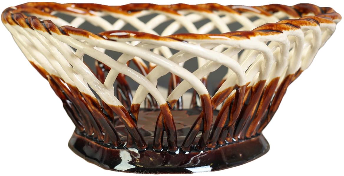 Конфетница треугольная Керамика ручной работы , цвет: коричневый. 27391112739111Ваза для конфет украсит любую квартиру, дачу или офис. Преподнести её в качестве подарка друзьям или близким – отличная идея. Необычный дизайн и расцветка может вписаться в любой интерьер и стать его уникальным акцентом. Вещь предназначена для подачи конфет, сухофруктов или восточных сладостей.