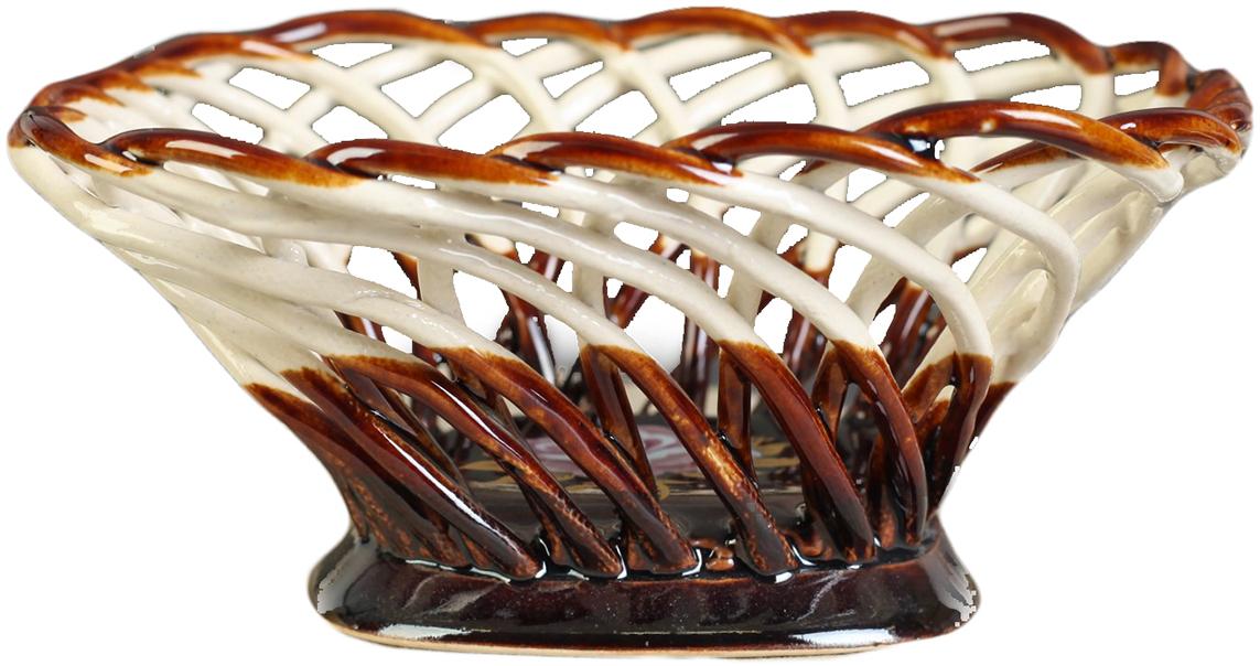 Конфетница квадратная Керамика ручной работы, цвет: коричневый. 27391172739117Ваза для конфет украсит любую квартиру, дачу или офис. Преподнести её в качестве подарка друзьям или близким – отличная идея. Необычный дизайн и расцветка может вписаться в любой интерьер и стать его уникальным акцентом. Вещь предназначена для подачи конфет, сухофруктов или восточных сладостей.