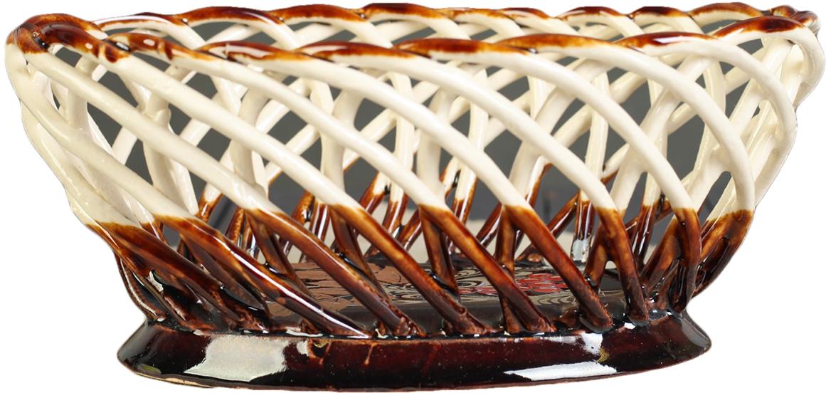Конфетница овальная Керамика ручной работы , цвет: коричневый. 27391202739120Ваза для конфет украсит любую квартиру, дачу или офис. Преподнести её в качестве подарка друзьям или близким – отличная идея. Необычный дизайн и расцветка может вписаться в любой интерьер и стать его уникальным акцентом. Вещь предназначена для подачи конфет, сухофруктов или восточных сладостей.