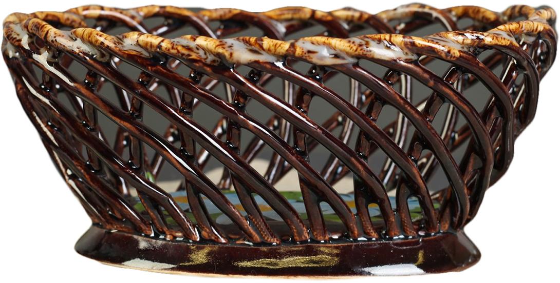 Конфетница овальная Керамика ручной работы , цвет: коричневый. 27391212739121Ваза для конфет украсит любую квартиру, дачу или офис. Преподнести её в качестве подарка друзьям или близким – отличная идея. Необычный дизайн и расцветка может вписаться в любой интерьер и стать его уникальным акцентом. Вещь предназначена для подачи конфет, сухофруктов или восточных сладостей.