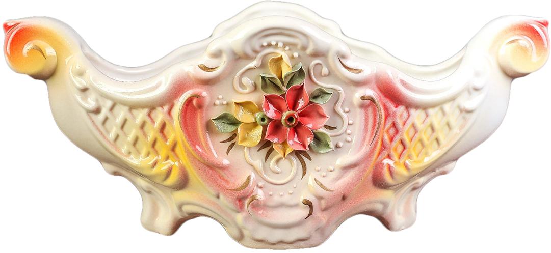 Конфетница Керамика ручной работы Барокко, цвет: белый. 2742182