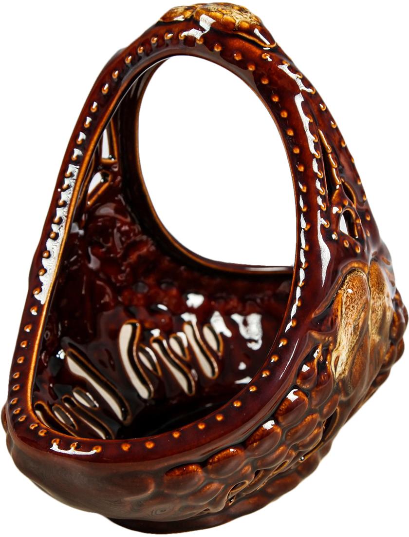 Конфетница Керамика ручной работы Виноград, цвет: коричневый2971594Ваза для конфет украсит любую квартиру, дачу или офис. Преподнести её в качестве подарка друзьям или близким – отличная идея. Необычный дизайн и расцветка может вписаться в любой интерьер и стать его уникальным акцентом. Вещь предназначена для подачи конфет, сухофруктов или восточных сладостей.