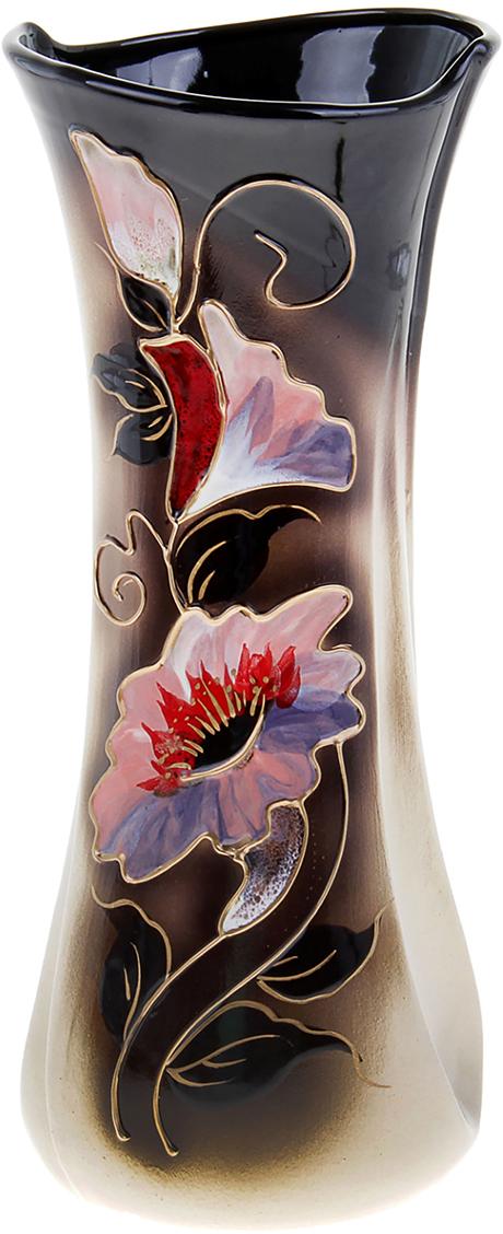 Ваза Керамика ручной работы Румба, цвет: черный. 304203304203Ваза из керамики не только станет прекрасным элементом декора помещения, но и сохранит свежесть вашего букета на долгое время. Подобно термосу, керамические сосуды сохраняют воду прохладной даже при высокой внешней температуре. Доказано, в керамической вазе цветы стоят почти в 2 раза дольше.